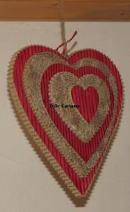 grand cœur en carton recyclé