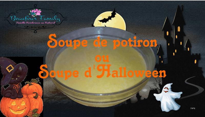 soupe de potiron / soupe d'halloween / soupe de courge