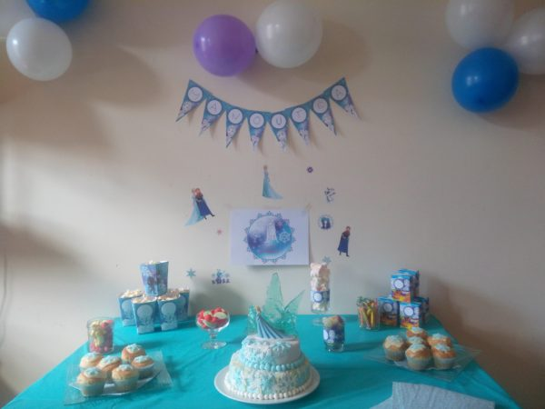 Sweet table reine des neiges / anniversaire