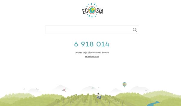 moteur de recherche écolo écosia