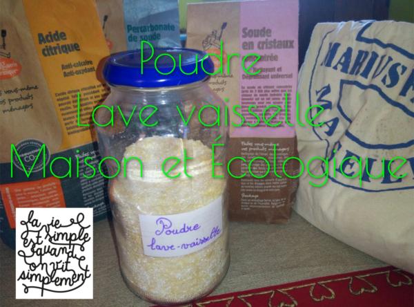 Poudre lave vaisselle maison, écologique et zéro déchet