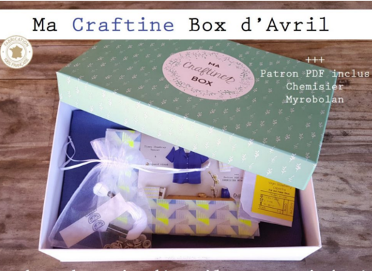 La Craftine Box d'avril / chemisier myrobolan
