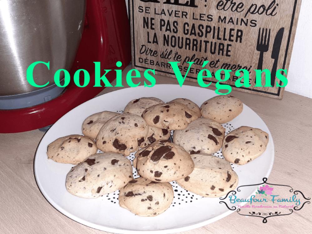 cookies végans recette biscuit fait maison