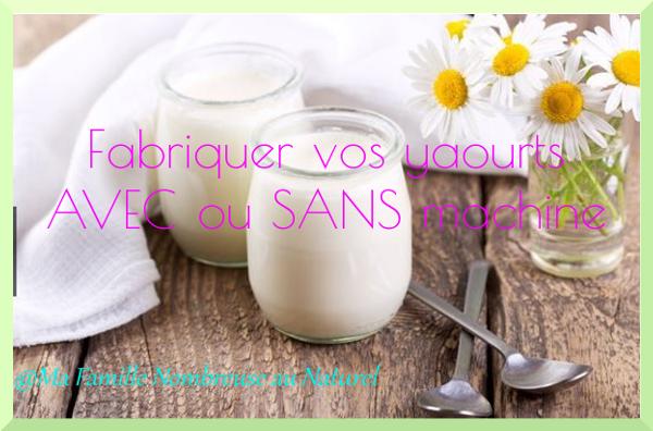 Fabriquer tous vos yaourts AVEC ou SANS machine / yaourts au four