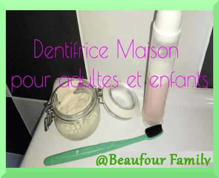 dentifrice maison naturel pour enfants et adultes