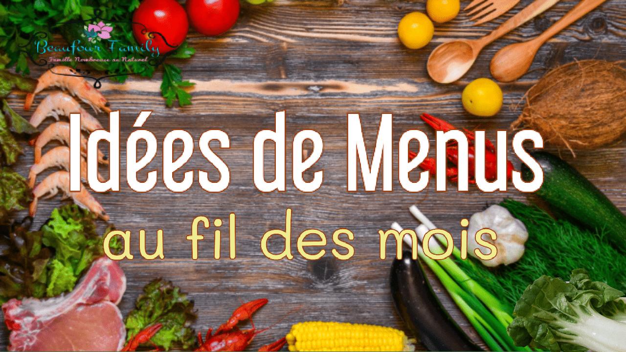 idées de menus / planning des repas