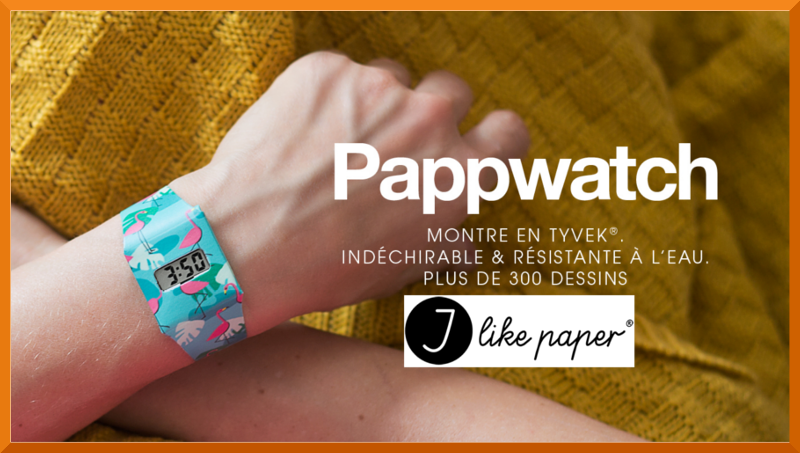 montre recyclable pappwatch